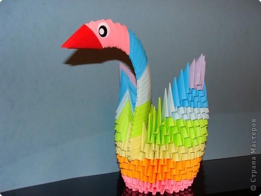 Давно хотела сделать модульного лебедя. И вот он! =) МК нашла у вас на сайте. Делала 3 дня, высота 21 см. Буду надеятся что он вам понравился