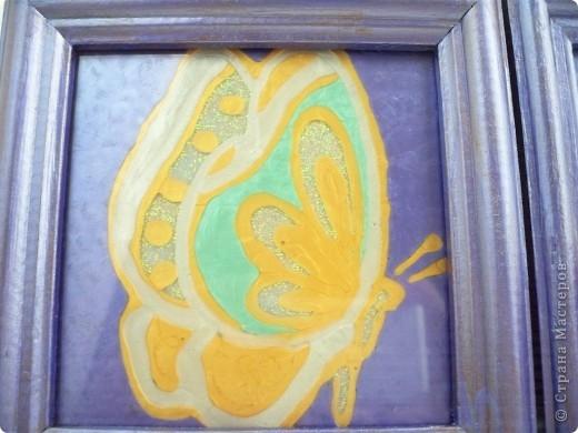 Делали картинки с дочерью Дианой, я работала со стеклом а она красила рамочки. По моему неплохо получилось. Роза - рисунок с обоев. фото 3
