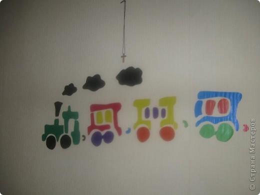 Вот такой паровоз  я сделала ребенку в детскую. фото 3