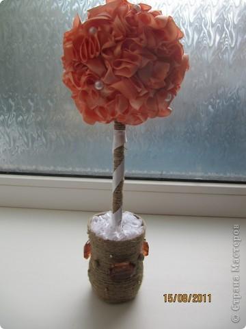 """Идею декора горшка """"украла"""" у тетушки))). Увидела у нее вазончики в таком исполнении, очень понравилось)"""