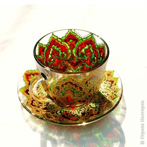 Чашка с блюдцем в арабском стиле. фото 1