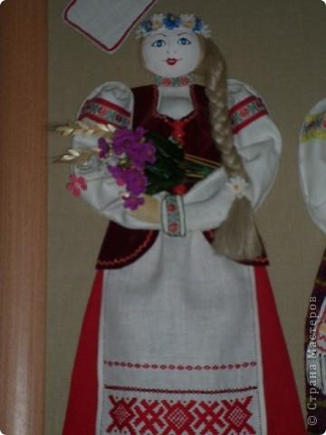 Панно в национальном стиле.  Фото в одной школе города Минска. фото 4