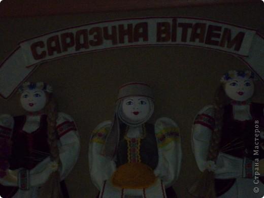 Панно в национальном стиле.  Фото в одной школе города Минска. фото 6