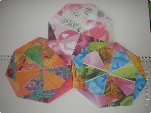 Доброго времени всем жителям ОГРОМНОЙ Страны Мастеров! С данной поделки началось мое увлечение оригами. Это подставочка под горячее или чай. вообщем для гостей. 8 модулей, собираеться без клея.  Взят из книжечки по оригами. найду - выставлю схемку. фото 1