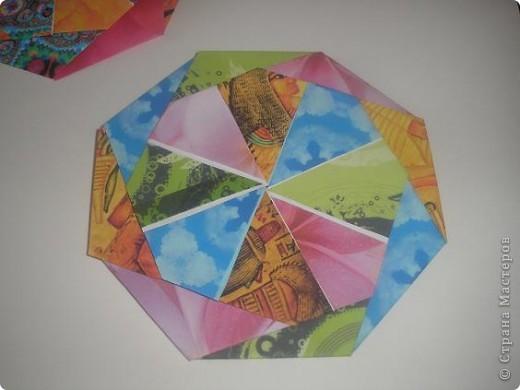 Доброго времени всем жителям ОГРОМНОЙ Страны Мастеров! С данной поделки началось мое увлечение оригами. Это подставочка под горячее или чай. вообщем для гостей. 8 модулей, собираеться без клея.  Взят из книжечки по оригами. найду - выставлю схемку. фото 2