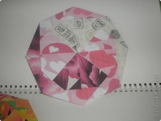 Доброго времени всем жителям ОГРОМНОЙ Страны Мастеров! С данной поделки началось мое увлечение оригами. Это подставочка под горячее или чай. вообщем для гостей. 8 модулей, собираеться без клея.  Взят из книжечки по оригами. найду - выставлю схемку. фото 4