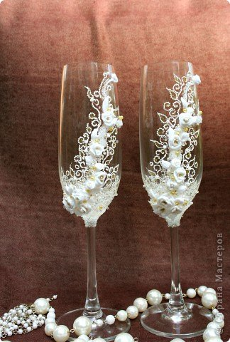 Свадебные бокалы.  фото 1