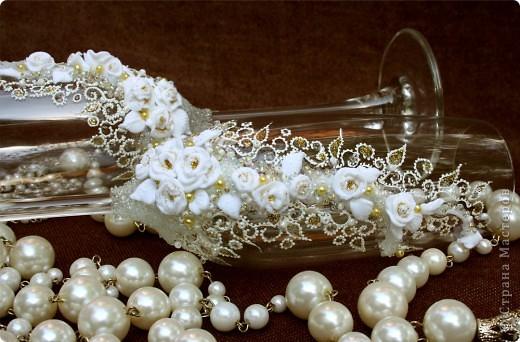 Свадебные бокалы.  фото 2