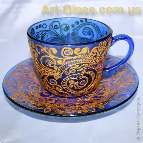 Чашка с блюдцем в кренделечках:)) фото 3