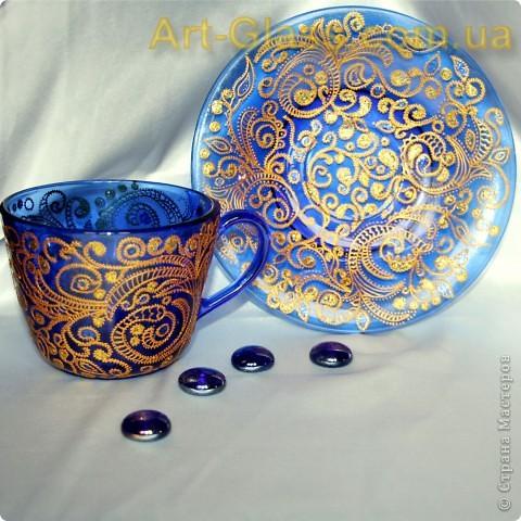 Чашка с блюдцем в кренделечках:)) фото 1