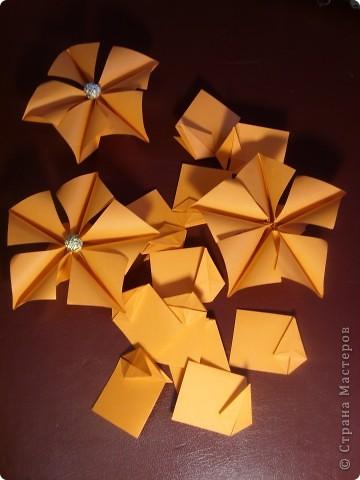 Колючка как-то придумалась сама, но что есть автор у этой колючки я не сомневаюсь, потому что модуль  уж очень простой.+ зелененькие вставочки, а цветочки это вариация Пуансетии Татьяны Высочиной. Делала их по фото. фото 2