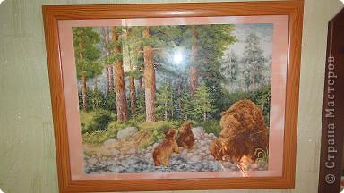 медведи, набор Золотое руно, размер 27х35, 37 цветов, 16 канва  фото 1