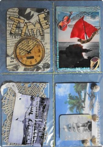 Сделала мини-серию из 4 карточек. Больше для того, чтобы показать карточки, которые получила в июле-августе.  Вспомнила, как раньше мы шили шкатулки из открыток. Украсила только маленьким цветочком, чтобы не портить вид открытки. фото 10