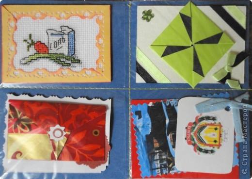 Сделала мини-серию из 4 карточек. Больше для того, чтобы показать карточки, которые получила в июле-августе.  Вспомнила, как раньше мы шили шкатулки из открыток. Украсила только маленьким цветочком, чтобы не портить вид открытки. фото 11