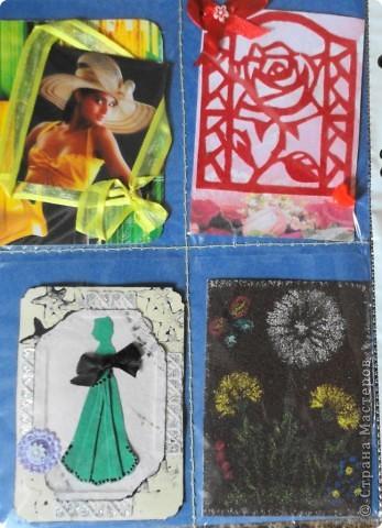 Сделала мини-серию из 4 карточек. Больше для того, чтобы показать карточки, которые получила в июле-августе.  Вспомнила, как раньше мы шили шкатулки из открыток. Украсила только маленьким цветочком, чтобы не портить вид открытки. фото 12
