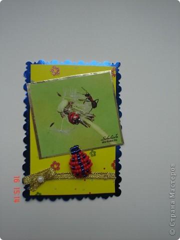 Продолжение серии. Использованы фото Т. Соколовой. Украшены бисерными лягушатами и божьими коровками. фото 6