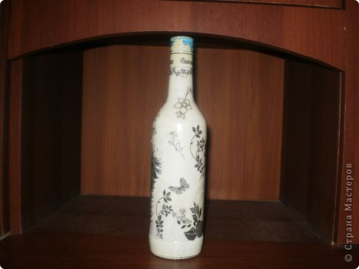 Ну вот она моя первая бутылочка, корявенькая немного. фото 6