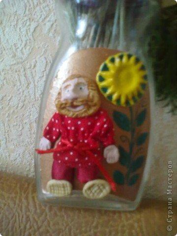 Картинка-оберег моим дорогим кумовьям в подарок (старые часы, соленое тесто, чеснок по МК OLGA15 http://stranamasterov.ru/node/67462 , колоски, шитье) фото 3