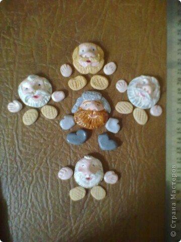 Картинка-оберег моим дорогим кумовьям в подарок (старые часы, соленое тесто, чеснок по МК OLGA15 http://stranamasterov.ru/node/67462 , колоски, шитье) фото 4