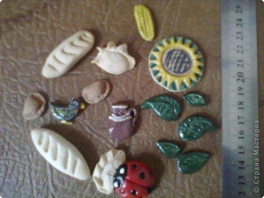 Картинка-оберег моим дорогим кумовьям в подарок (старые часы, соленое тесто, чеснок по МК OLGA15 http://stranamasterov.ru/node/67462 , колоски, шитье) фото 5