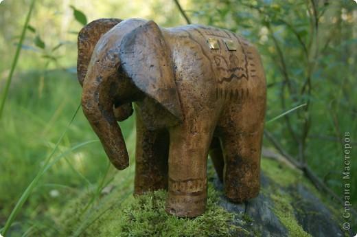 Слон в технике папье-маше. фото 1
