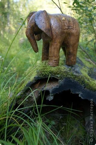 Слон в технике папье-маше. фото 2