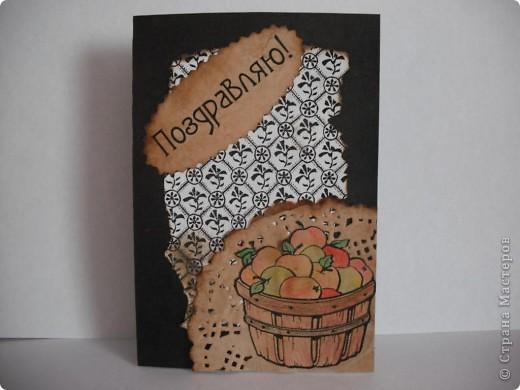 В первый раз я решила поучаствовать в игре по скетчу))) В открытке использованы очень простые материалы: картон, ажурная салфетка и распечатки на офисной бумаге. А еще я в первый раз попробовала состарить бумагу в кофе, мне понравилось))) Если есть какие-то замечания или советы, пишите, все учту! фото 1