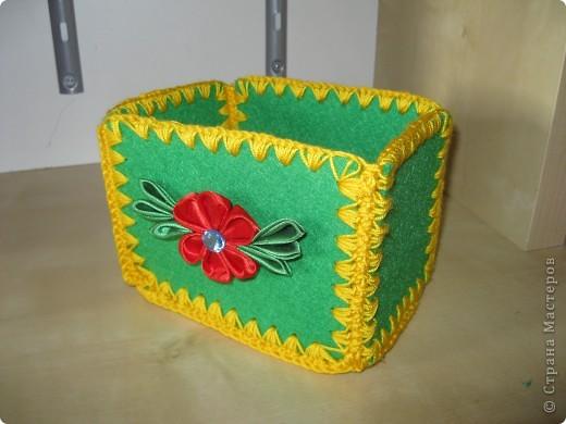 коробочка из войлока
