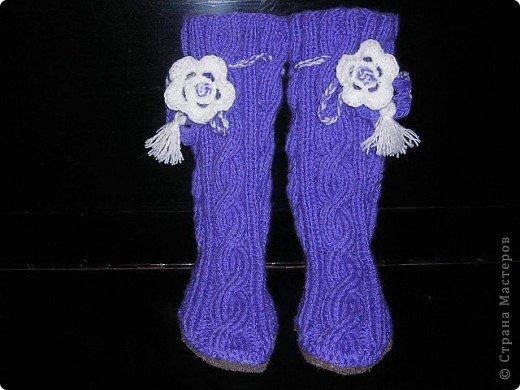 Носки-тапочки на войлочной подошве. фото 2