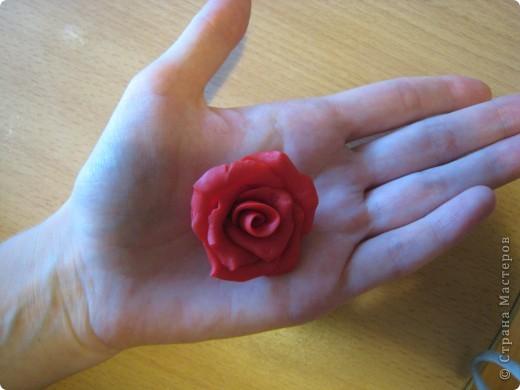 Первый раз лепила, делала розу маме для кольца фото 2