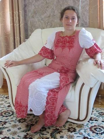 Пока не кончилось лето хочу показать еще одно новое дочкино платье фото 1