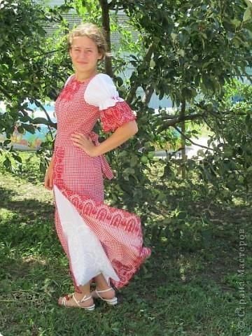 Пока не кончилось лето хочу показать еще одно новое дочкино платье фото 2
