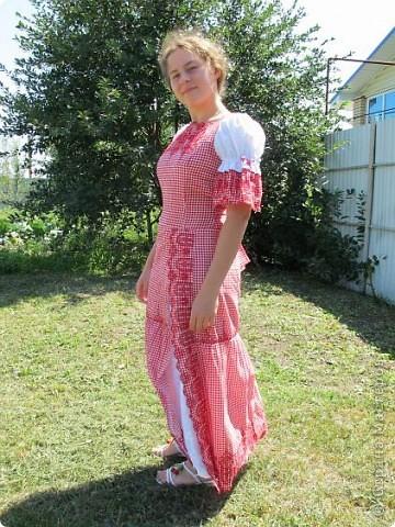 Пока не кончилось лето хочу показать еще одно новое дочкино платье фото 3
