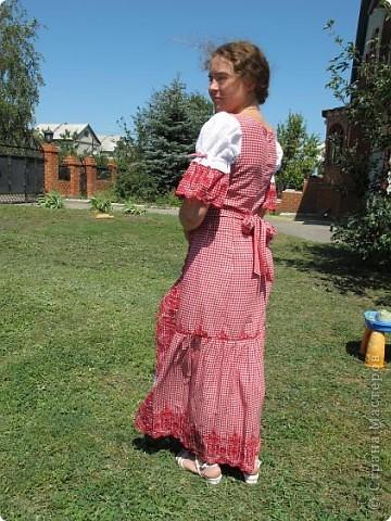 Пока не кончилось лето хочу показать еще одно новое дочкино платье фото 4