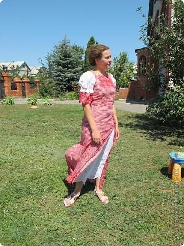 Пока не кончилось лето хочу показать еще одно новое дочкино платье фото 5