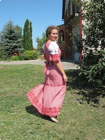 Пока не кончилось лето хочу показать еще одно новое дочкино платье фото 6