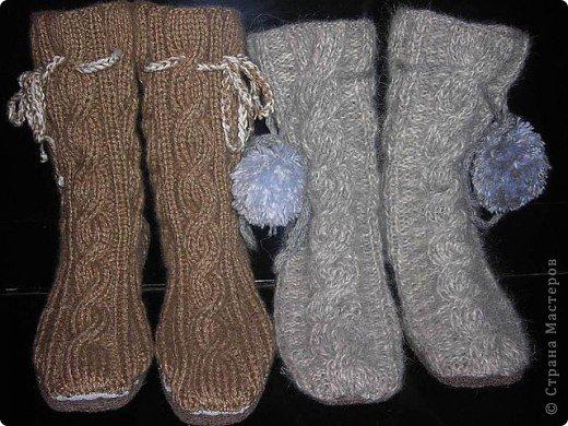 Носки-тапочки на войлочной подошве. фото 1