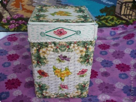 Короб плетённый фото 1