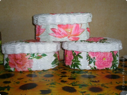 первые пробы декупажа на плетенках фото 5
