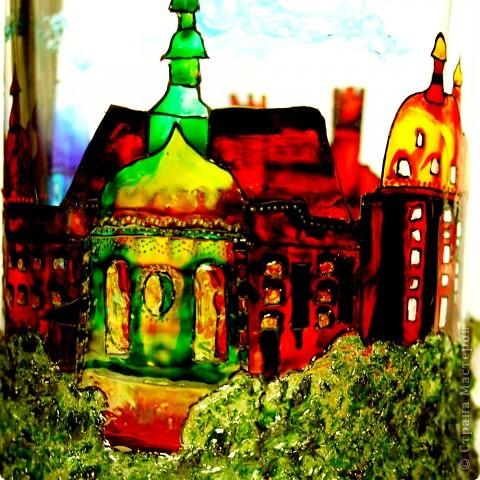 Бокал расписан в стиле Старая Прага фото 6