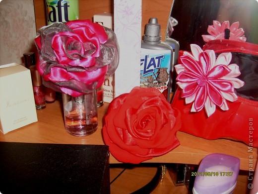наконец то я решилась сделать такую розу !!!! все смотрела восхищалась работами наших мастериц, а сама как то побаивалась :) Но вот что получилось :) фото 6