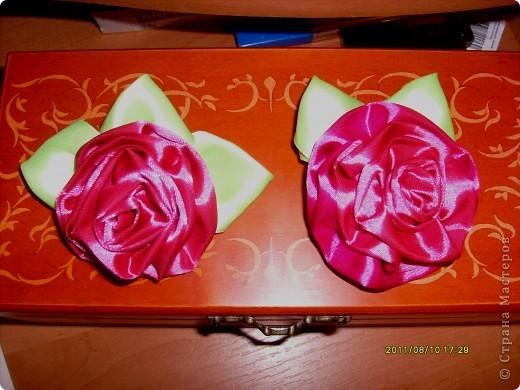 наконец то я решилась сделать такую розу !!!! все смотрела восхищалась работами наших мастериц, а сама как то побаивалась :) Но вот что получилось :) фото 7