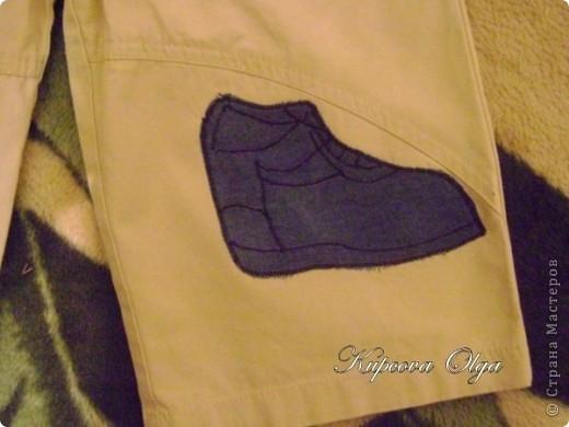 Знакомая принесла трое штанишек с ооочень дырявыми коленками.Вот что у меня получилось,штанишки правда превратились в бриджики ,но для садика самое то,всё равно они были уже даже больше чем впритык фото 6