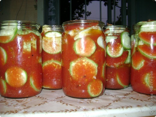 Хочу пр6едложить рецепт заготовки на зиму. Кабачки в томатном соке. фото 6