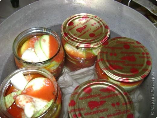 Хочу пр6едложить рецепт заготовки на зиму. Кабачки в томатном соке. фото 7