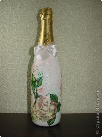 Вот и третья бутылочка.Попробовала использовать яичную скорлупу.. фото 1