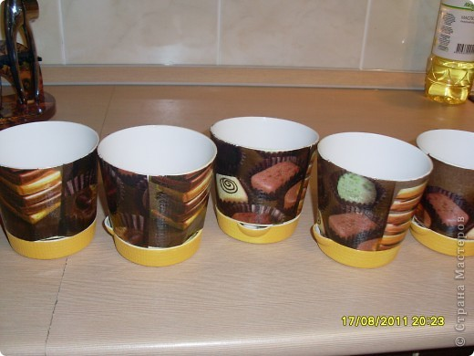 Вот такие шоколадные горшочки с вафелькой у меня получились))) фото 1