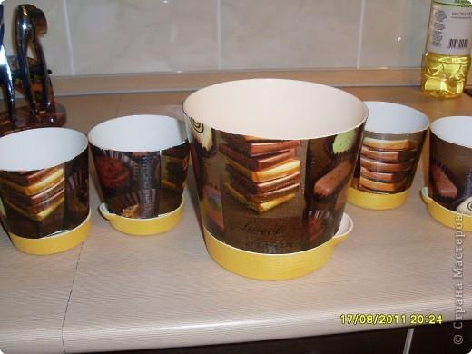 Вот такие шоколадные горшочки с вафелькой у меня получились))) фото 2