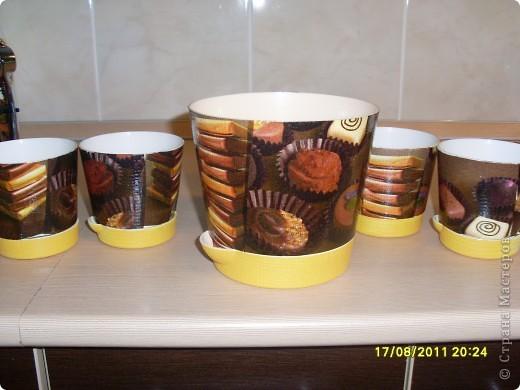 Вот такие шоколадные горшочки с вафелькой у меня получились))) фото 3