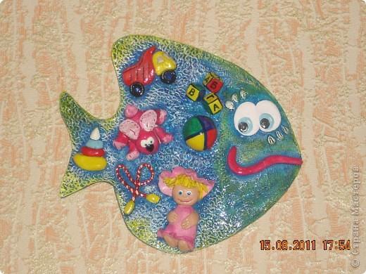 эту рыбку слепила для дочки в детскую комнату. фото 1